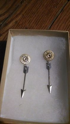 Arrow Charm Bullet Earrings for the Country Bow Hunting Archery Loving Girl