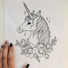 Unicorn tatoo