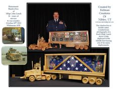 The shadowbox completed. I had this made for my husband for his retirement from the Air Force.