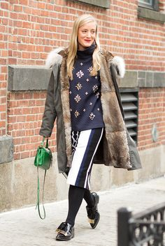 Street Style Stars at New York Fashion Week Fall 2015 | POPSUGAR Fashion