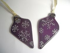 Fused Glass Christmas Ornament by Samantha Capeling, Venus Art Glass