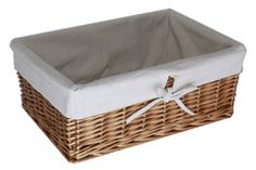 Store Lined willow pantry basket £14 14x40.5x28.5