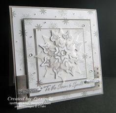 I am finally able to post my card from the December Humble Artists Swap!  The guidelines were: Create a Winter themed card May N...