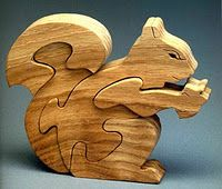 Squirrel Scroll Saw Puzzle