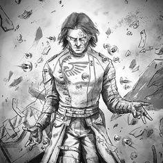 "allthingswarhammer: ""Description: #warhammer #art #inquisition #psyker Author: teysseegamer on Instagram Source: http://gbp24.me/1AOvKbm Date: March 20, 2015 at 12:38PM """