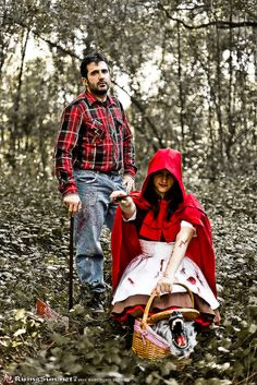 deviantART: Little Red Riding Hood & her Lumberjack Huntsman as wolf killers