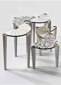 Art Deco meets Space Age. Playtime tables designed by Bethan Laura Wood.