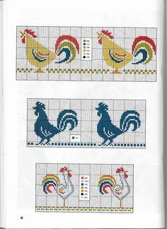 coq * point de croix * cross stitch rooster