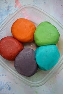Made this Kool-Aid play dough and it turned out awesome. Used a bit less oil (2 tsp) than she did.