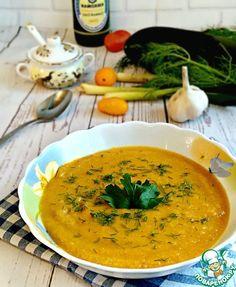 Овощной суп-пюре с чечевицей - кулинарный рецепт