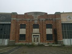 Brooklyn's Floyd Bennett Field. Many of the Art Deco-styled hangars lie empty and abandoned.