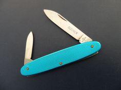 Victorinox ELINOX Excelsior Rare Alox Swiss Army Knife Blue - 84 mm #Victorinox