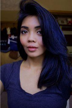 donker blauwe haarverf