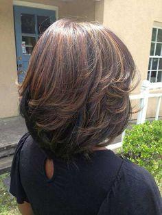 Bob Hairstyles 2018, Medium Bob Hairstyles, Weave Hairstyles, Wedding Hairstyles, Layered Bob Haircuts, Long Bob Haircuts, Layered Bob Thick Hair, Layered Bob Hairstyles For Black Women, Pixie Haircuts