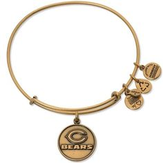 Alex and Ani Chicago Bears Ladies Logo Gold-Tone Bracelet #Bears