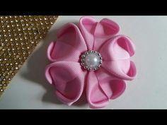 Como fazer Flor coração de Cetim DIY, Sandra Monteiro Artesanatos - YouTube