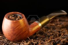 black tobacco pipe
