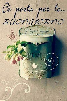 Buongiorno a te - BuongiornoATe. Good Day, Good Night, Good Morning, Italian Memes, Say Hello, Images, Place Card Holders, Cards, Cristiani