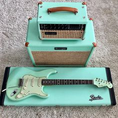 Happy Straturday! Never get tired of this Surf Green Strat From @aaron_hiebert #stratocaster #strat #straturday #fender #fenderstrat #fenderstratocaster #surfgreenstrat #surfgreen #studio33guitar Guitar Hero, Music Guitar, Cool Guitar, Playing Guitar, Acoustic Guitar, Ukulele, Surf Guitar, Guitar Books, Art Music
