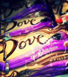 Dove Almond Dark Chocolate ¡que ricos!