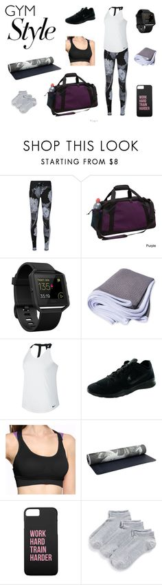 """Gym philosophy"" by marzy2shine on Polyvore featuring moda, The Upside, Goodhope Bags, Fitbit, NIKE, Casall, Zella, philosophy e gymessentials"