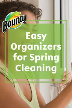 Simplify your spring cleaning by adding some easy organizers to your pre-cleaning shopping list! Get to work using Bounty Paper Towels and plastic tote bins to help you clean up and organize every room in your home.