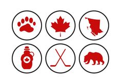 Collection of Canada related icons. Hope you can use these in your next project. Insta Icon, Home Learning, Instagram Highlight Icons, Vector Free, Canada, Concept, Adventure Awaits, Bujo, Vectors