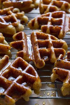 Honey Dipped Doughnut Waffles Fluffy and soft. And doughnutty. And waffly. #Waffles #Donut #GF