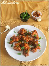 Hot pot cooking: Gobi Manchurian