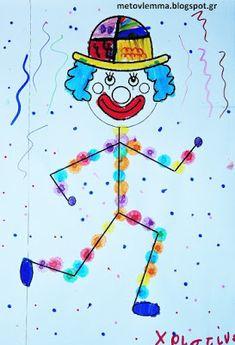 Με το βλέμμα στο νηπιαγωγείο και όχι μόνο....: Επίσκεψη ζωγράφου στο νηπιαγωγείο.Απόκριες-Romero Britto Circus Activities, Circus Crafts, Summer Crafts For Kids, Art For Kids, Cute Crafts, Diy And Crafts, Theme Carnaval, Diwali Craft, Shape Art
