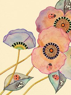 Ladybird Poppies | Colleen Parker
