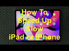 iPad How To Speed Up Slow Device Fix, How To Fix Slow Running Issue on iPhone or iPad - YouTube Save The Day, Ipad, Running, Iphone, Youtube, Keep Running, Why I Run, Youtubers, Youtube Movies