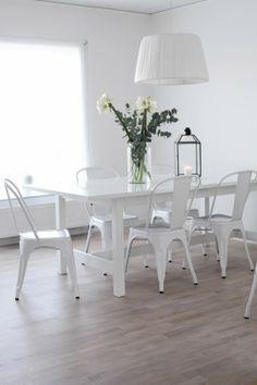 White dining room | Mitt Vita Hus, November 2013 [Original post in Swedish]