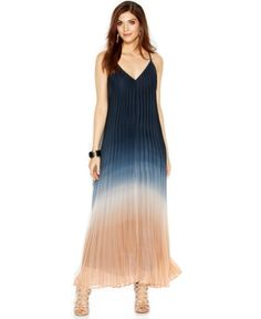 Bar Iii Ombre Pleated Trapeze Maxi Dress | Clothing