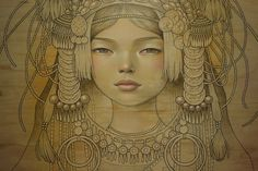 The incredibly talented American Audrey Kawasaki is a modern artist whose style can not be ignored. Amazing Drawings, Art Drawings, Portrait Art, Portraits, Audrey Kawasaki, Art News, Pop Surrealism, Modern Artists, Arm Tattoos