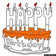 free birthday coloring pages color in this picture of a birthday cake with happy candles and say happy birthday to a friend or family member with our