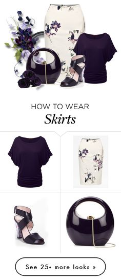 """""""Floral Skirt"""" by malathik on Polyvore featuring French Connection, Doublju, Rocio, Fendi, women's clothing, women, female, woman, misses and juniors"""