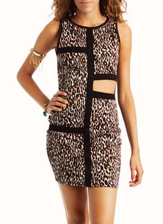cut-out leopard dress $25.30