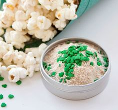 Imagine beer-flavored popcorn topping -- with shamrocks. Seriously. We got that.