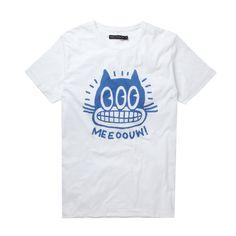 (99+) Fab.com | Meeoouw Tee White