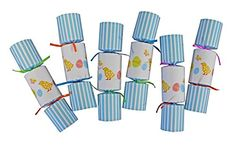 Harbottle House Easter Chick & Eggs Party Favor Party Crackers make a great Easter idea decoration and Easter party favor with its cute chick design and clever party cracker! These and more Easter party poppers at GuyGifter.com.