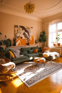 boho living room - boho living room & boho living room decor & boho living room apartment & boho living room decor on a budget & boho living room decor bohemian homes & boho living room ideas & boho living room grey couch & boho living room wall decor Bohemian Living Rooms, Bohemian Homes, Bohemian Decor, Living Room Vintage, Bohemian Apartment Decor, Retro Living Rooms, Living Room Wall Colours, Colorful Living Rooms, Brown And Green Living Room