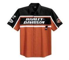 harley-davidson-men-s-s-s-harley-davidson-racing-colorblocked-woven-shirt-99086-12vm Riding Clothes, Men Clothes, Harley Apparel, Harley Gear, Riding Jacket, Harley Davidson Bikes, Polo Shirts, Cool Bikes, Sleeve