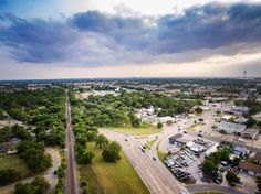 There really are days when a cloud just hangs over you head #clouds #denton #aerialview #djilife #dronestagram