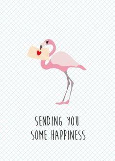 Studio Inktvis - sending you some happiness kaart (Voorzijde)