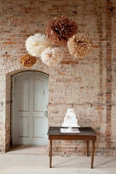 decoration with pompons