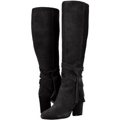 The Fix Women's Nia Knee-High Ankle Tie Boot (545 PEN) ❤ liked on Polyvore featuring shoes, boots, ankle strap boots, knee length boots, wrap ankle boots and knee-high boots