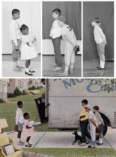 DAVID MARQUEZ — Norman Rockwell reference photos alongside...