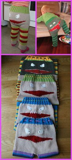 Knit Kids Monster Pants Longies & Shorts Free Patterns