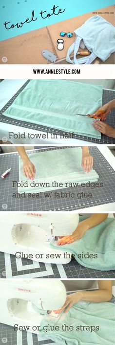 Summer Beach Towel Tote Bag DIY | LifeAnnStyle.com